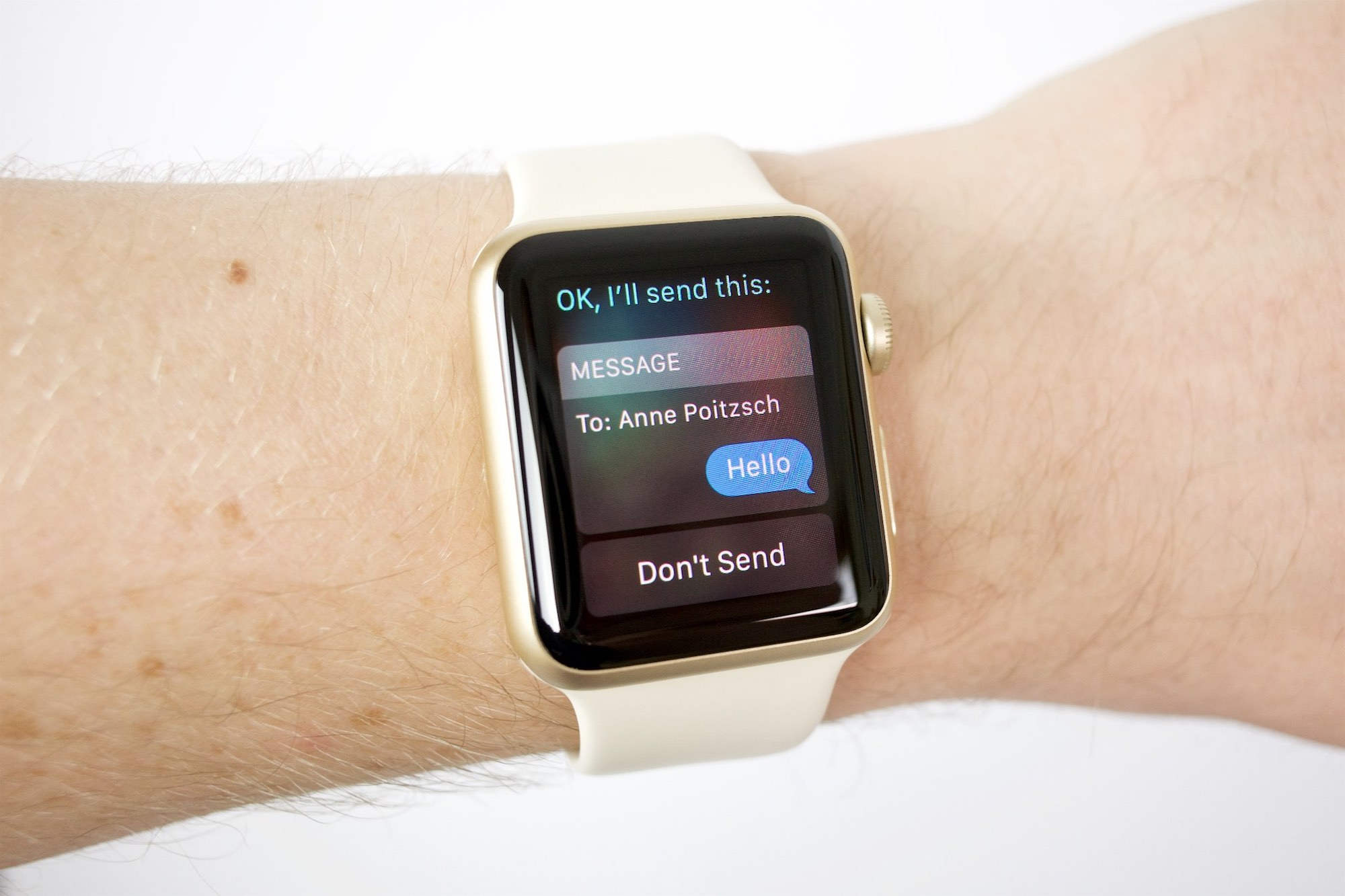 Apple Watch Siri iMessage