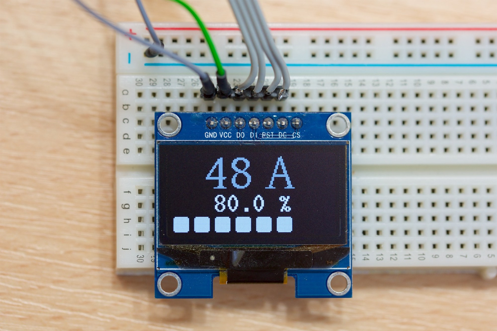 Arduino OLED 128x64 Front Showing Screen