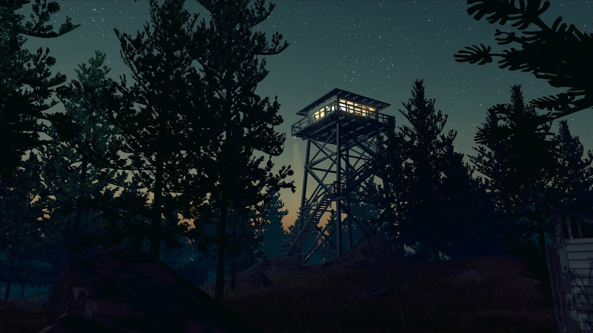 Firewatch Screenshot Night