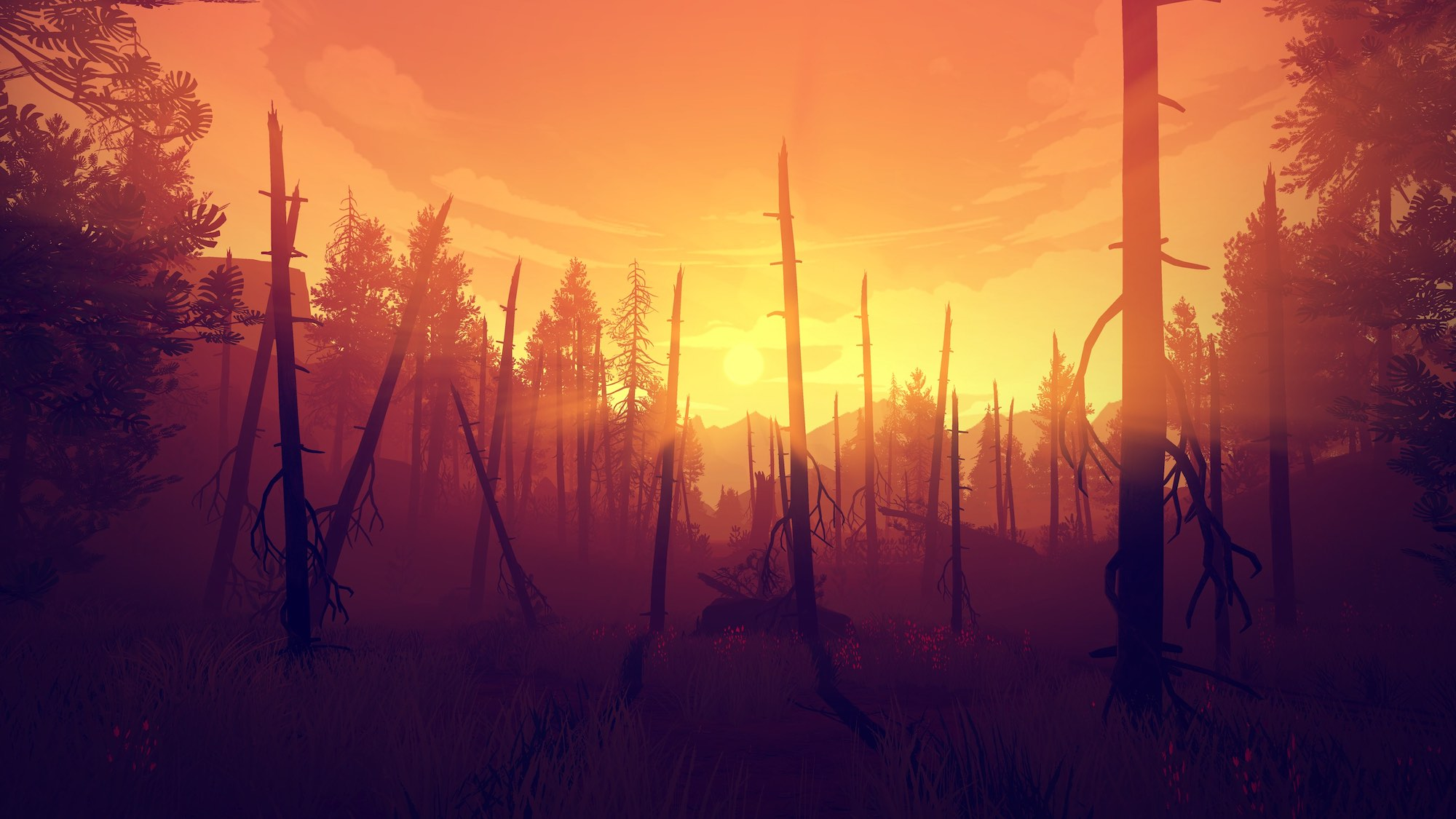 Firewatch Screenshot Sunset
