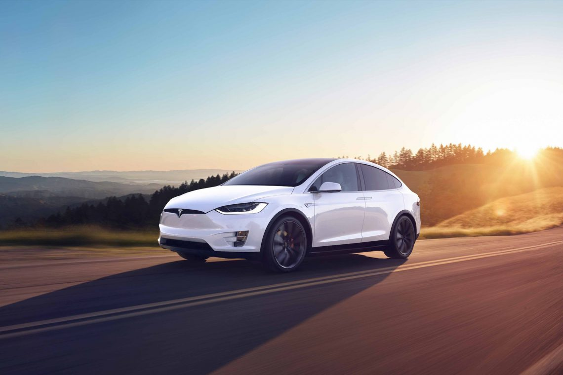Tesla Model X Sunset