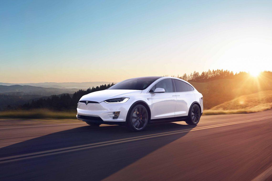 Tesla Model X Sunset