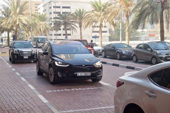 Tesla Model X for uberONE in Dubai